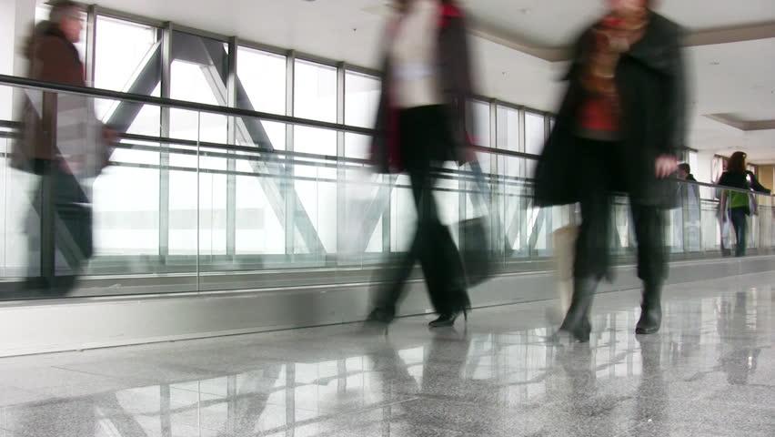 Crowd and escalator | Shutterstock HD Video #205150