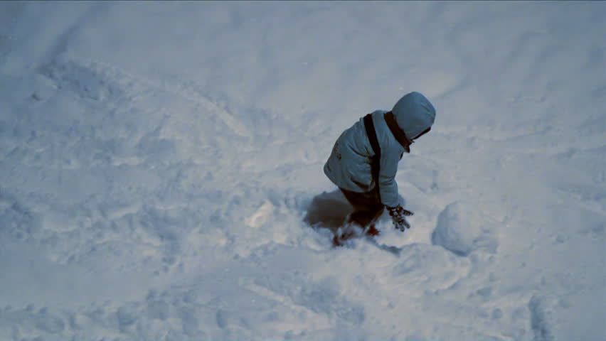 Children play in the snow at night   Shutterstock HD Video #2051624