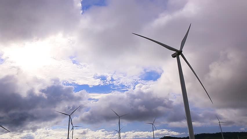 Electrical Eco power maker wind turbine in Thailand.   Shutterstock HD Video #20523718