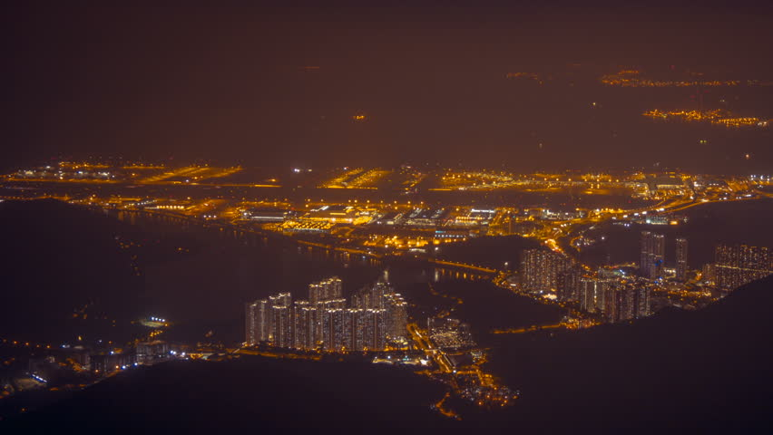 Hong Kong Airport at night 1 | Shutterstock HD Video #20524699