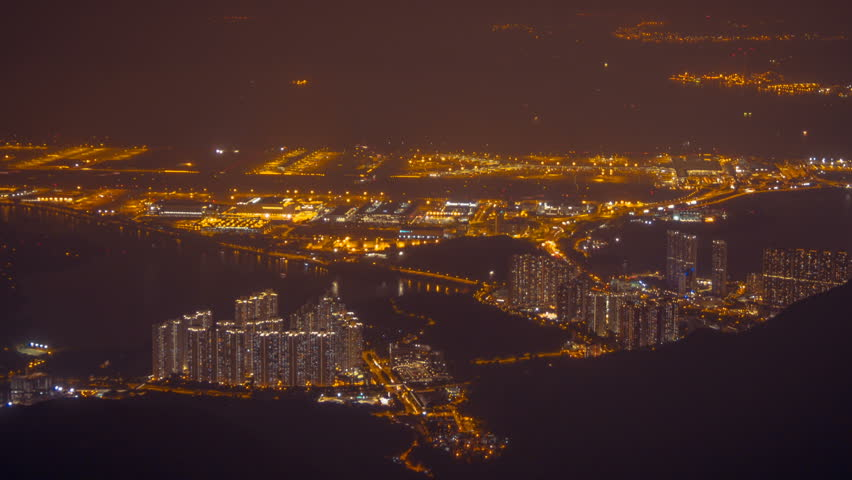 Hong Kong Airport at night 2 | Shutterstock HD Video #20524702