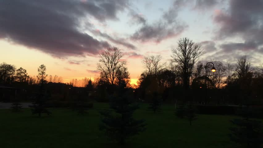 The view of the sunset in the city Park | Shutterstock HD Video #20529058