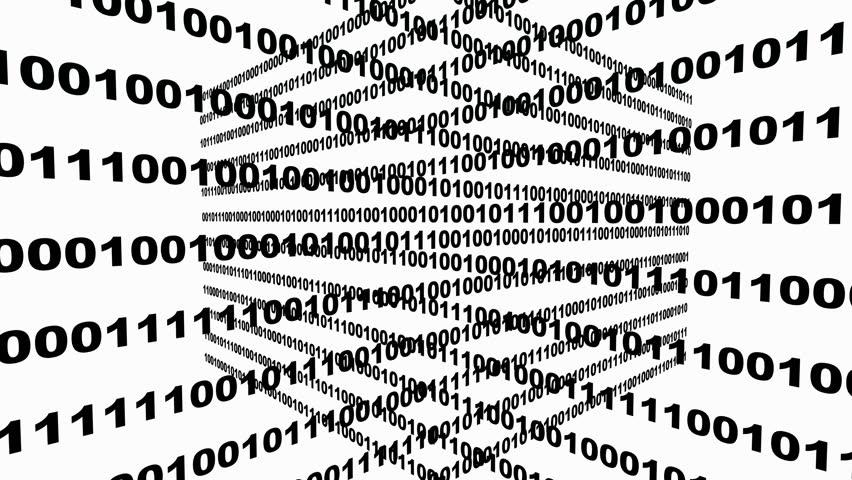 4k. Binary source code, data digital display, future tech background.  | Shutterstock HD Video #20544187