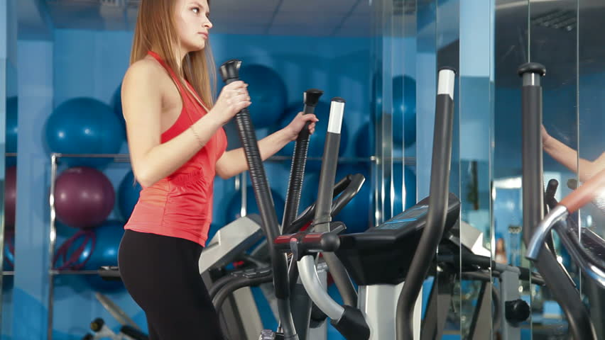 Young Girl Exercising On Cross Stock Footage Video (100% Royalty-free)  2060426 | Shutterstock
