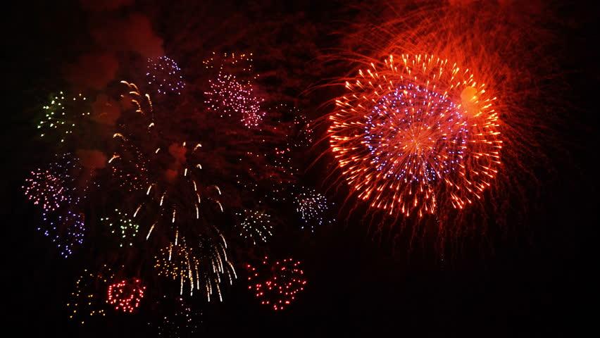 The firework on the night sky | Shutterstock HD Video #20605585
