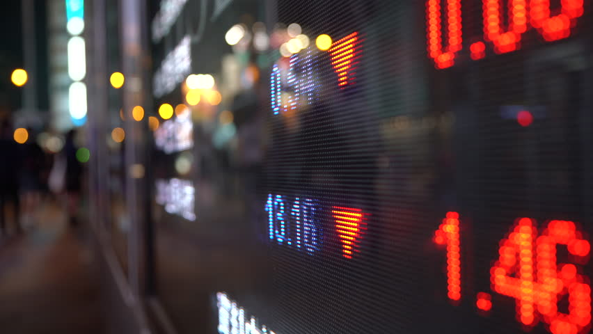 Display stock market numbers in a street