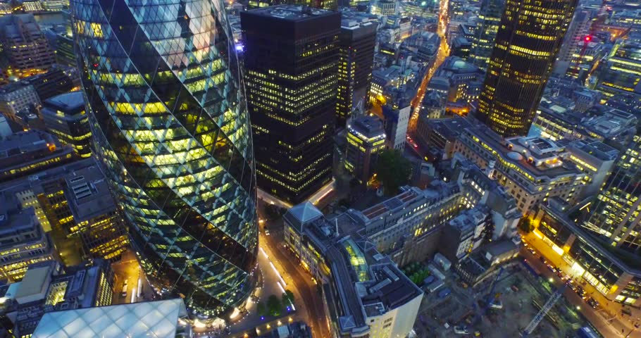 London, England; Skyline aerial drone footage. | Shutterstock HD Video #20639290