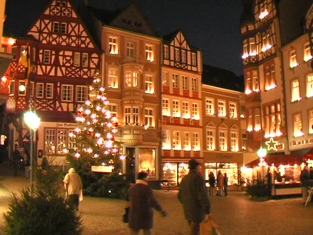 Christmas Town In Germany.Old Town At Christmas Germany Stock Footage Video 100 Royalty Free 206503 Shutterstock