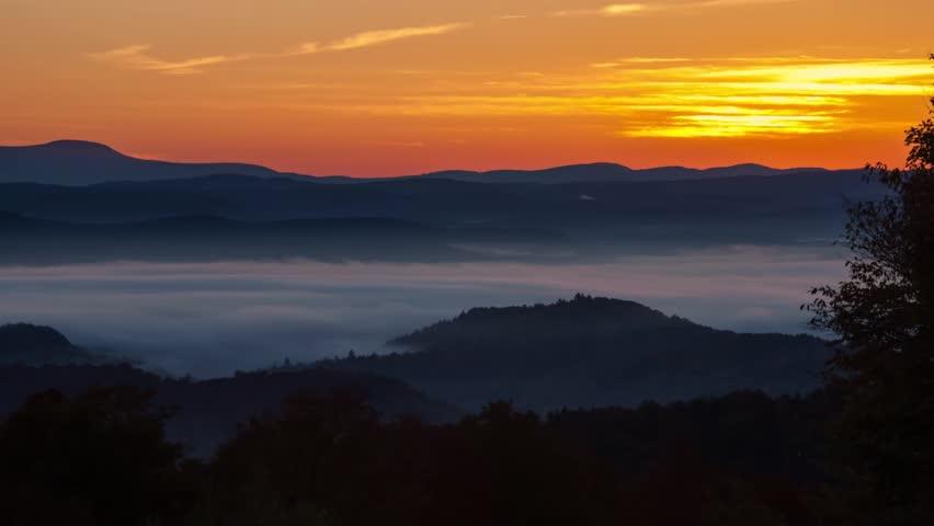 Mountain Sunrise sunset time lapse
