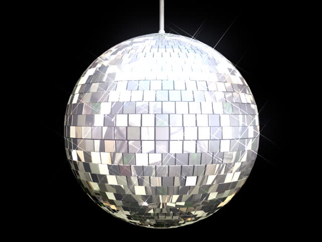 Disco Ball Mirrors Spin (PAL). Disco ball spinning and sparkling as it rotates on a perfect loop. Loops seamlessly. Alpha channel included for compositioning. | Shutterstock HD Video #2070137