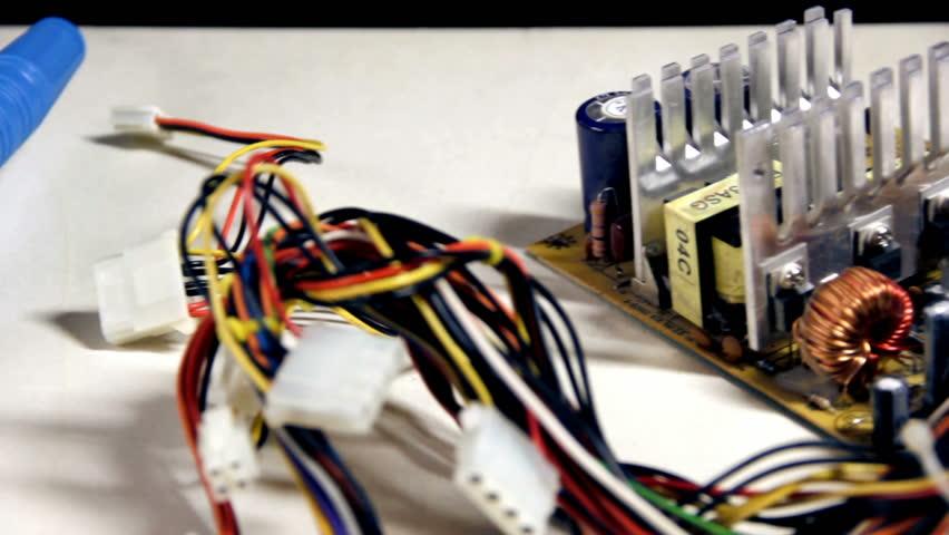 Repairing Electronic Circuits - dolly shot. HD1080p. EOS 550D.