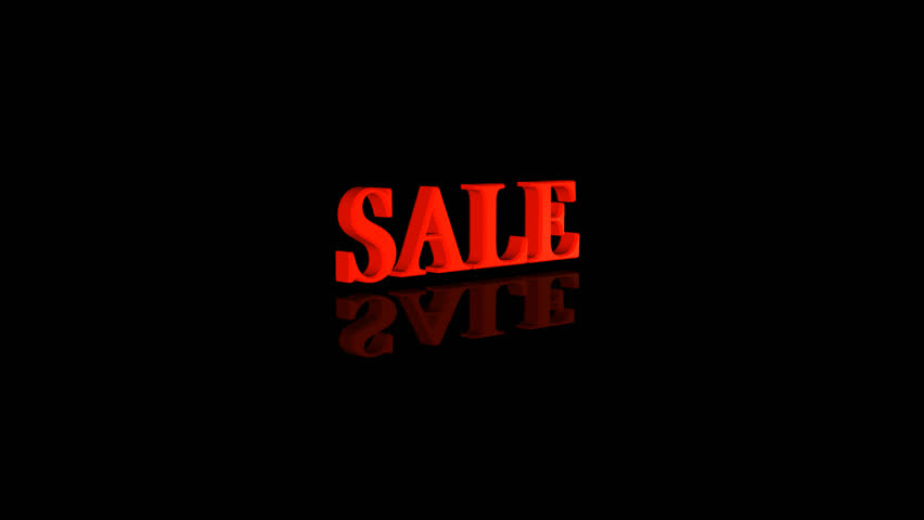 Sale text 3d animation with alpha channel | Shutterstock HD Video #20748655