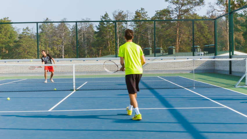 Coaching Or Teaching Play Tennis Video Stock A Tema 100 Royalty Free 20767696 Shutterstock