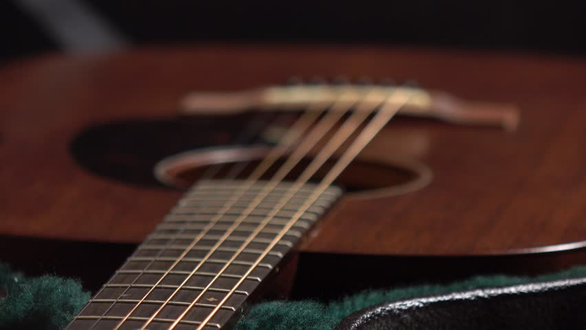 Classic guitar in the case 4K racking focus video | Shutterstock HD Video #20782027