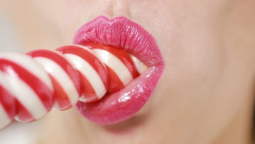 Beautiful red lip, image photo