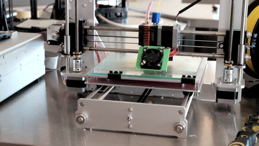 Printing with Plastic Wire Filament on 3D Printer. Close-Up. | Shutterstock HD Video #20801902