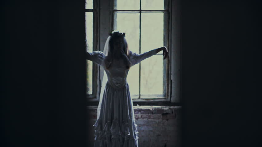 Halloween day with creepy zombie bride | Shutterstock HD Video #20845129