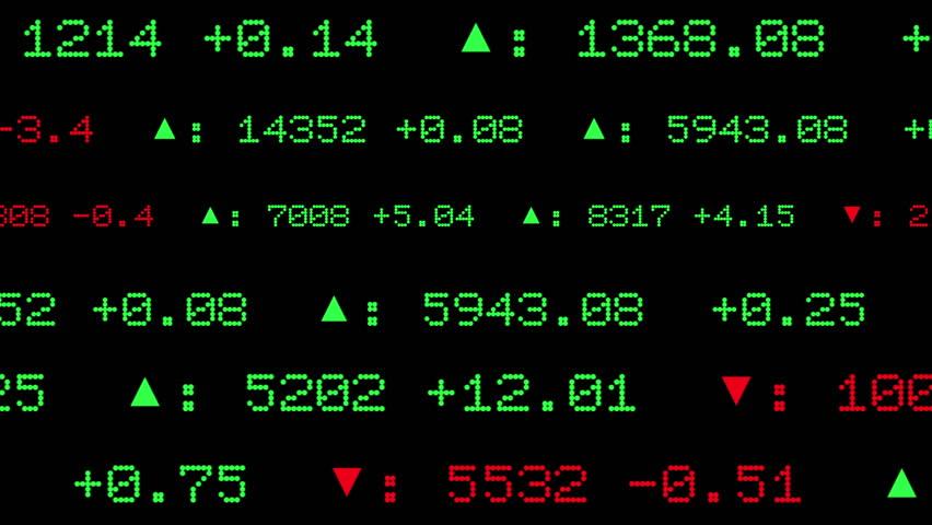 Display of Stock Exchange 2D Animation