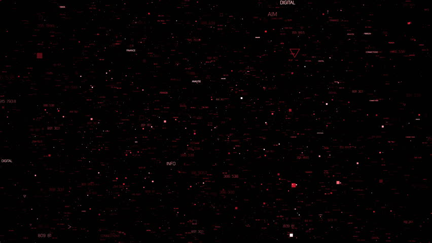Abstract background with random particles. Dark technology or business background. Triangles, crosses and square forms of elements with different sizes. Loopable 3d rendering background.    Shutterstock HD Video #20897893