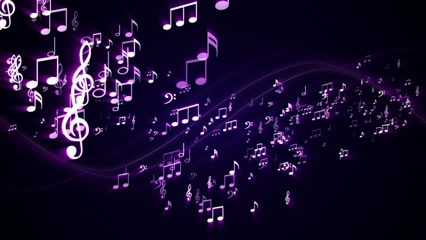 Background Random Music Note Technology Code, Loop, 4k