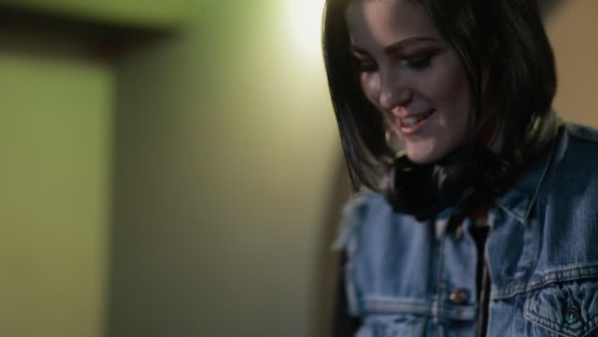 Woman DJ having fun in nightclub | Shutterstock HD Video #21027325