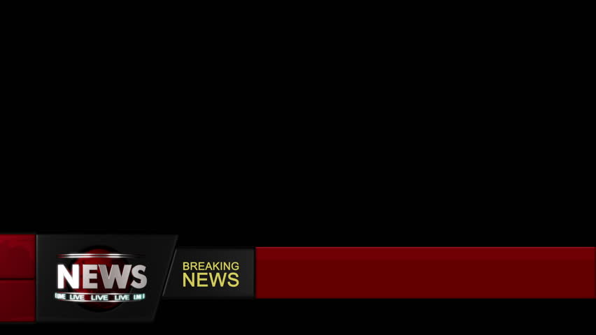News ticker lower third with alpha. Loop-able. Simply add your own text and background and use the second part of the clip (white part) as a luma matte for the first part. #2105237