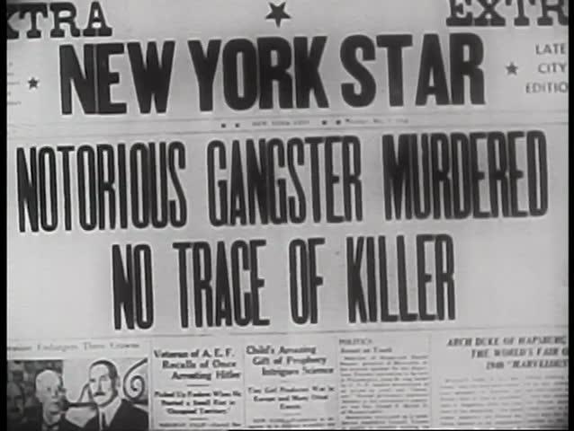 Close-up of criminal case news headline   Shutterstock HD Video #2108687