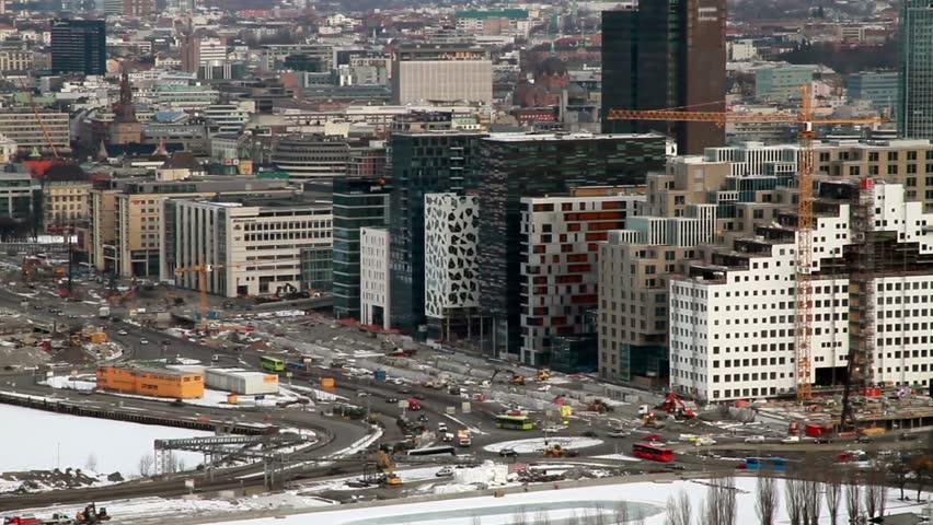 Morning traffic Oslo, Norway. | Shutterstock HD Video #21119620