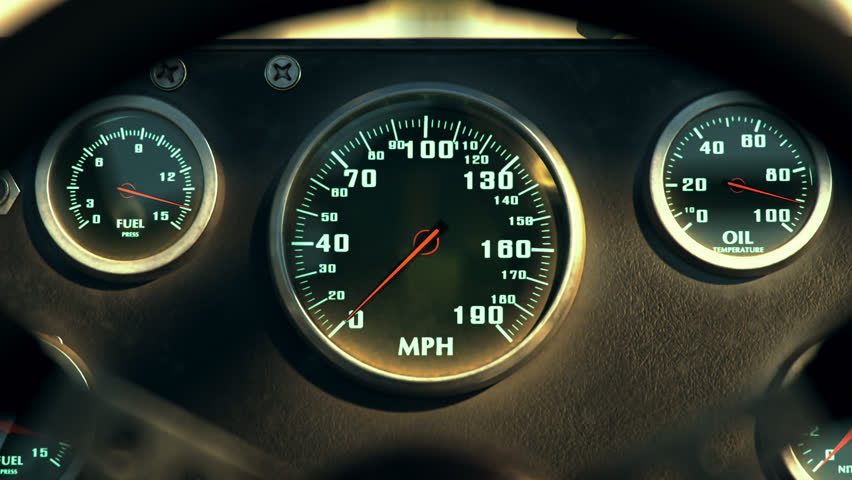 02599 Speedometer Fast Car Automobile Speed Dashboard Accelerate