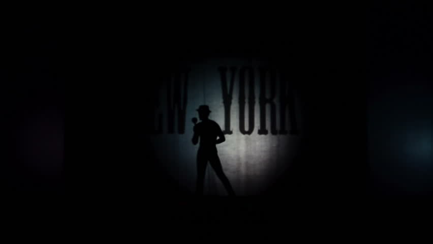 BERDYANSK, UKRAINE - OCTOBER 30: Against the background of New York. Performance by the theater of shadows in front of a backlit white screen in Berdyansk, Ukraine on October 30, 2016 | Shutterstock HD Video #21129964