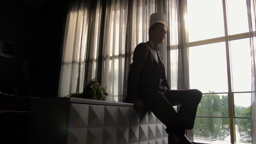 Man sitting at the window #21181501