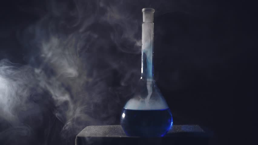 Chemical flask with smoke   Shutterstock HD Video #21183859