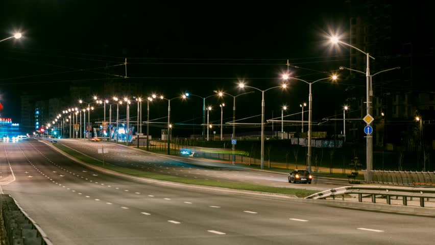 Time lapse night traffic and car lights. | Shutterstock HD Video #21221953