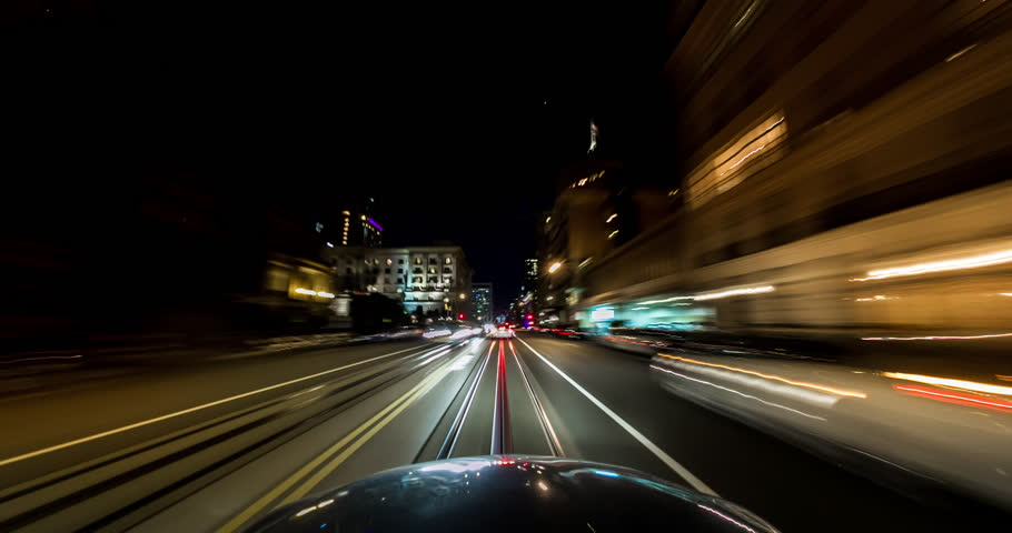 City Night Driving Time Lapse. Driving in Downtown San Francisco. | Shutterstock HD Video #21242095