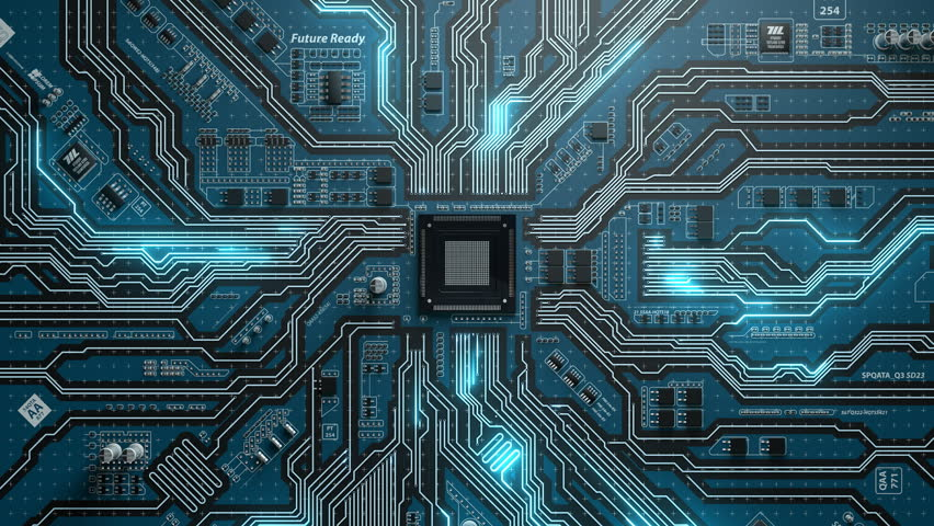 Seamlessly looping futuristic of electronic board Royalty-Free Stock Footage #21247042