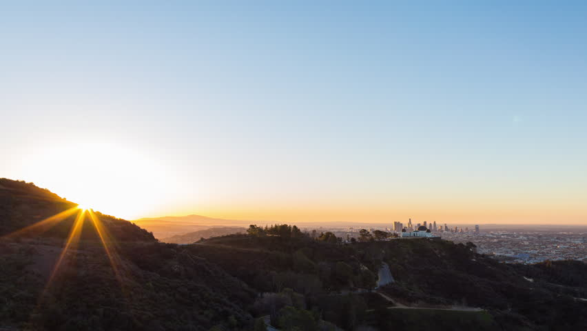 Los Angeles and Griffith Park Sunrise Timelapse