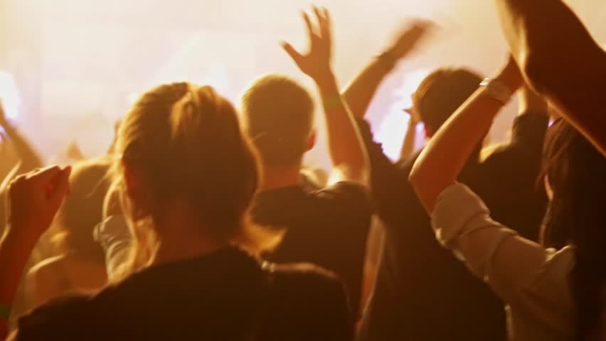 Crowd dancing at music concert. Close-up | Shutterstock HD Video #21280252