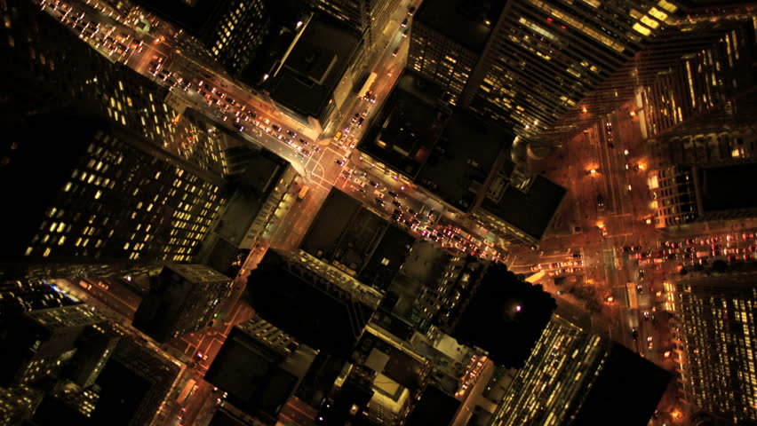 Aerial view of skyscrapers at night in San Francisco | Shutterstock HD Video #2128841