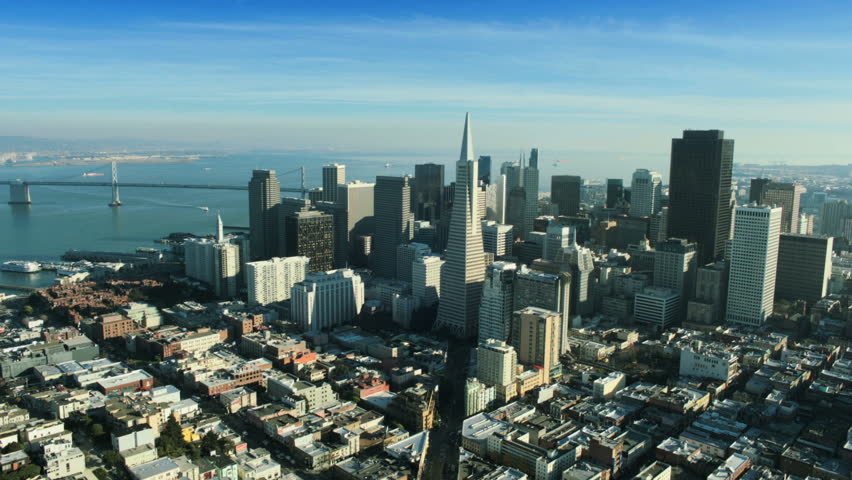 Aerial view of the Transamerica Pyramid building and the city of San Francisco, California, North America, USA #2129402
