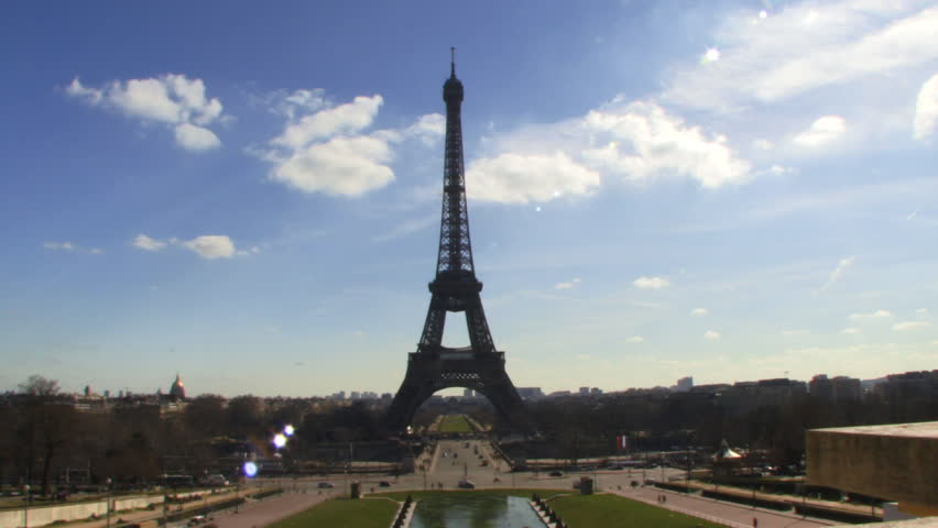 Wide shot, Eiffel Tower, Paris, France