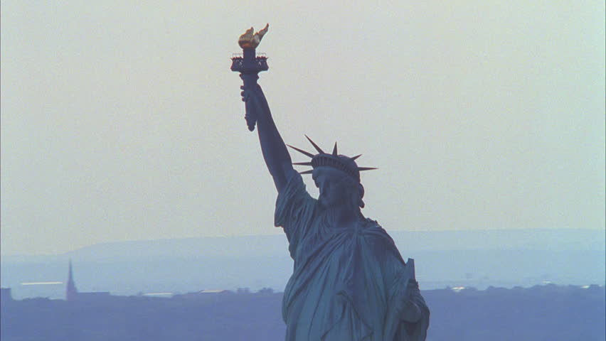 Day Aerial, circling Statue Liberty, New York City | Shutterstock HD Video #21318316