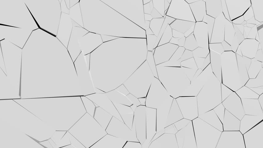 Glass shatters into many fragments, there is an alpha channel | Shutterstock HD Video #21324931