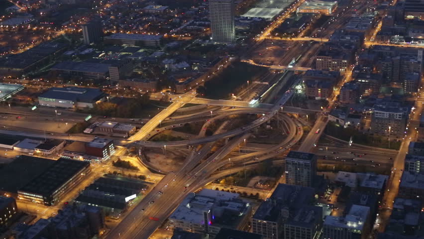 Sky view of Chicago traffic, video | Shutterstock HD Video #21333592