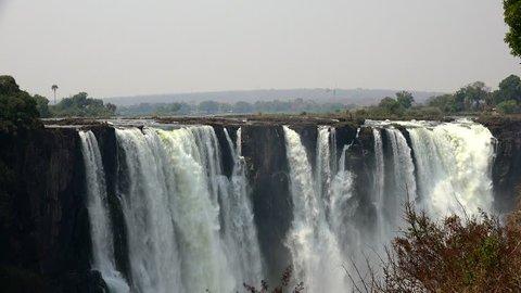 Victoria Falls filmed on the Zimbabwe side as 4K UHD footage
