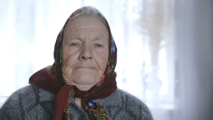 Old woman with a sweet smile