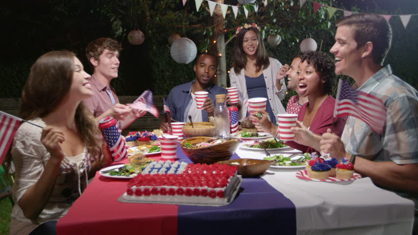 Friends Making A Toast To Celebrate 4th Of July Shot On R3D