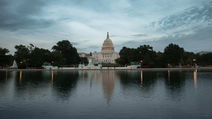 US Capitol Building timelapse, Washington DC.