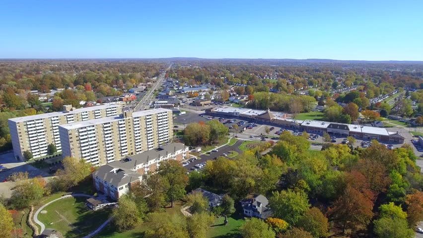Aerial footage town of Willowick Ohio | Shutterstock HD Video #21401695