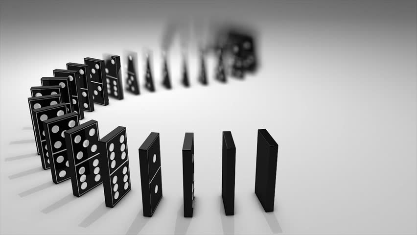 Dominos Effect 3d Animation. Stock Footage Video (100% Royalty-free)  2140409 | Shutterstock