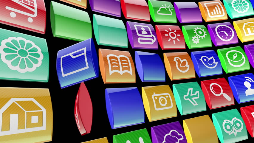 Mobile apps icon background | Shutterstock HD Video #2142668
